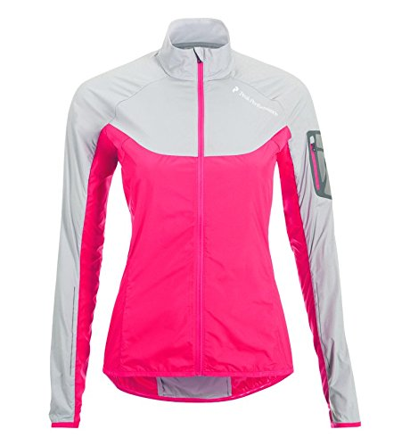 Peak Performance Focal Jacket - Cortaviento para mujer, color rojo, ta