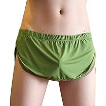 Masterein Mens Tanga Bolsa G String Jock Strap Underwear bajo de la cintura bikini calzoncillos