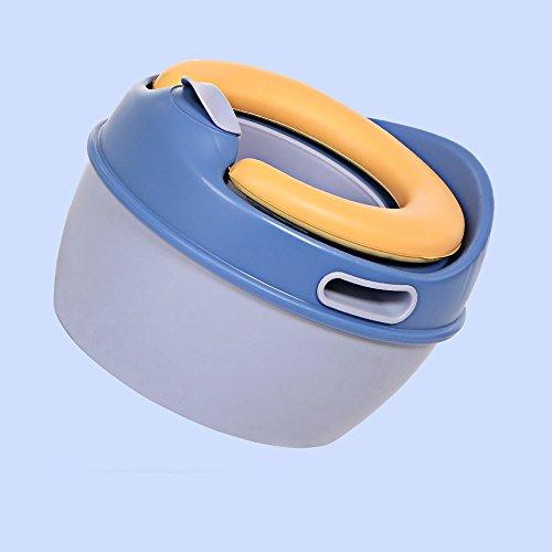 Toilettes pour enfants Conception Ergonomique bébé Pot Chaise bébé siège - Pot détachable avec Couvercle matériel sans BPA - antidérapant - Potty Training pour garçons et Filles Bleu Rose