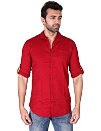 [Sponsored]Villain Men's Casual Shirt - Slim Fit Button Down Shirt In 100% Cotton