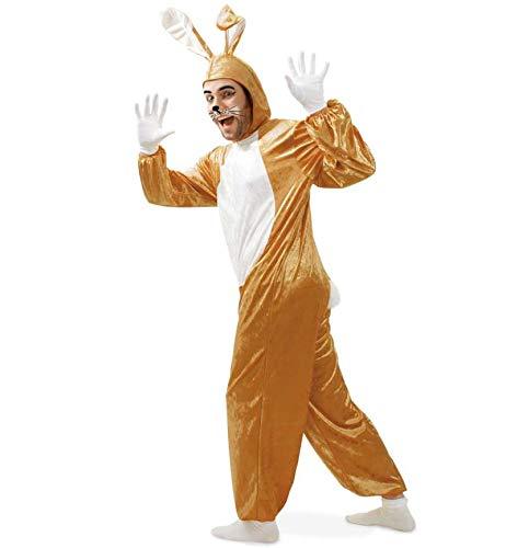 KarnevalsTeufel Overall Hase, Einteiler, Ganzkörperkostüm, Ostern, Karneval, Mottoparty, Hasenkostüm Karnickelkostüm Osterhasenkostüm Osterhase Kostüm für Erwachsene an Karneval (Large)