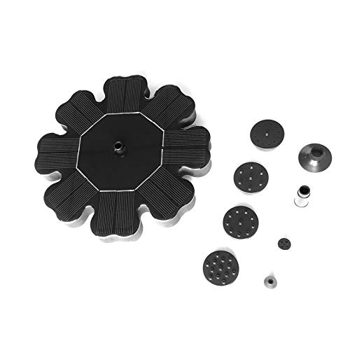 Preisvergleich Produktbild ghfcffdghrdshdfh Flower-Shaped Solar Powered Fountain Pump for Garden Pool Watering Submersible Floating Panel Water Pump with 4 Nozzles