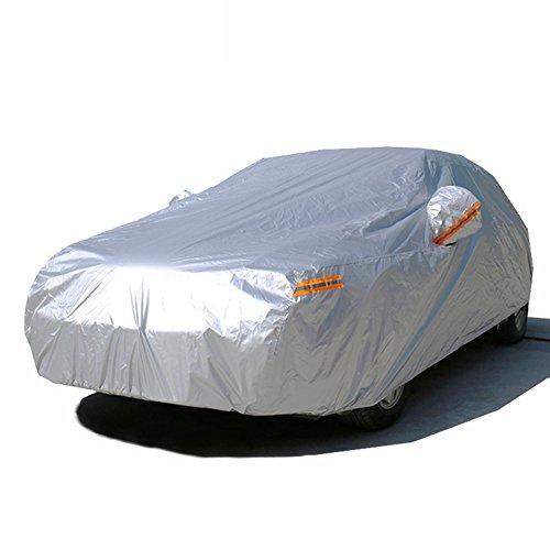 Kayme autoabdeckung vollgarage wasserdicht sonnenschutz stoff xxl für winter & sommer indoor outdoor Größe (5.10x2.00x1.80 M) Passend für Geländewagen suv YXL