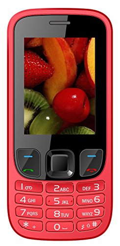 IKALL K6303 Basic Feature Phone (Red, 64MB)