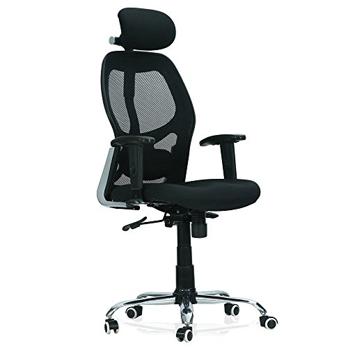 Green Soul Newyork High-Back Height Adjustable 360 Degree Swivel Executive Office Chair (Black)