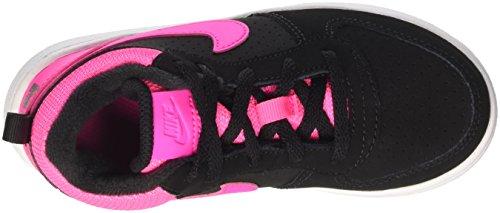 Nike  Court Borough Mid (Td), Chaussures mixte bébé Noir (Noir / Rose Explosion)