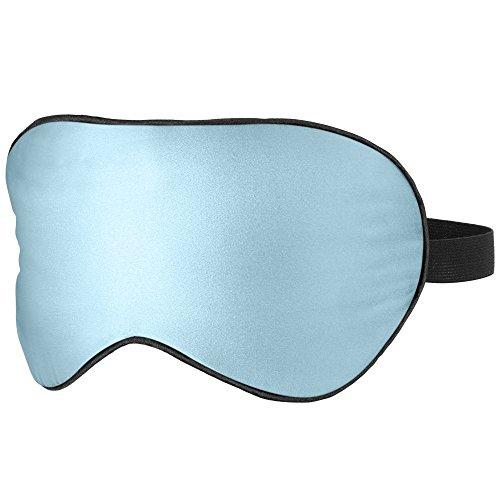 PLEMO Masque des Yeux pour Dormir 100% Soie Naturelle Occultant Ultra-Douce, Lanière Réglable, Dormir sur le Côté disponible, Bleu