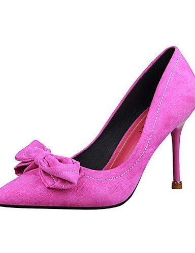 WSS 2016 Chaussures Femme-Décontracté-Noir / Vert / Rose / Rouge / Gris / Corail-Talon Aiguille-Talons-Talons-Laine synthétique pink-us7.5 / eu38 / uk5.5 / cn38