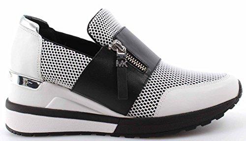 Women's Shoes Sneakers MICHAEL KORS Chelsie Trainer Scuba 43T7CHFS1D Black White