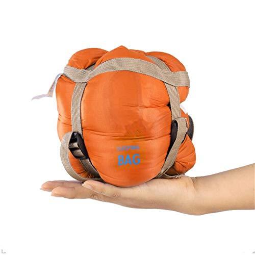 Sobre Saco de Dormir Adulto Camping al Aire Libre Mini Walking Beach Sacos de Dormir Ultralight Bolsa de Viaje Primavera otoño,Orange,190 * 75cm