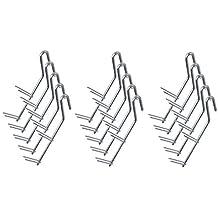 DD-Tackle 5 St/ück Doppelspitz R/äucherhaken 19,5cm// 2mm /Ø gedrillt
