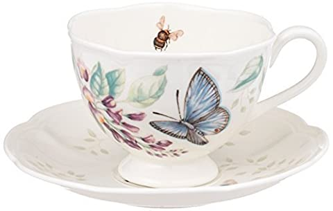 Lenox Butterfly Meadow Blue Butterfly Cup and Saucer Set by Lenox