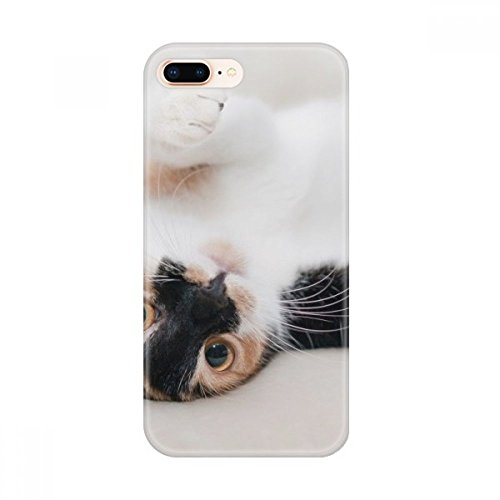 DIYthinker Gatito Rayas Gato Relax de Apple Animal del sueño iPhone 7/8 Caja del teléfono de TPU Flexible Cubierta Transparente Regalo iPhone 7/8 Caso