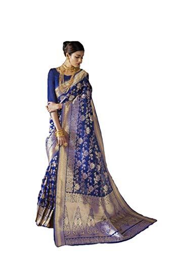 Indian Party Wear Sarees (Indian Wear Saree Ethnic Party Wear Sari Traditional Banarasi Silk Saree Wedding Wear Saree Designer Saree A25)