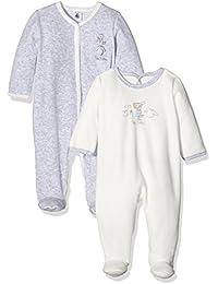 Petit Bateau 20734 - Pijama de una pieza para bebé-niños, lot de 2