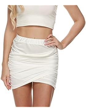Zeagoo Falda Mujer Elástica Plisada Básica Patinador Multifuncional Corto Falda