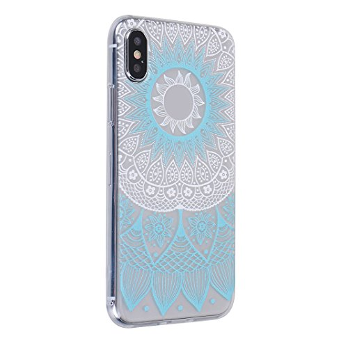 Souple Étui pour Apple iPhone X Silicone TPU, Moon mood® Portable Flexible Coque de Protection pour Apple iPhone X Soft Back Case Cover Bumper Shell Coquille Couverture TPU Doux Gel Coque Housse de Pr Motif 19
