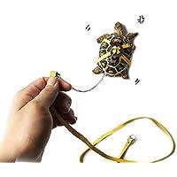 ASOCEA - Correa de Piel para Mascotas, Ideal para Tortugas y Tortugas, Color Amarillo