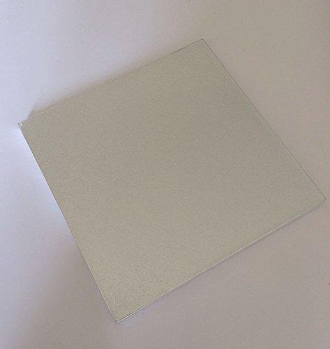 14 Cake-drum Runde (Cake Drum Tortenplatte 35,5 cm QUADRATISCH Cake Board Tortenunterlage 10-13mm Ausstecher Fondant SILBER)