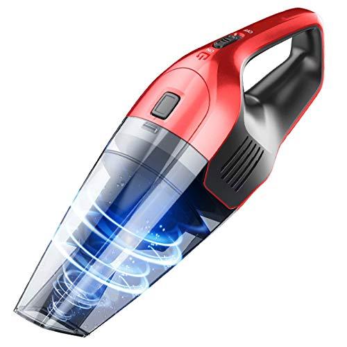 HWZXBCC Handheld Cordless Cleaner, 14.8V 100W 6KPa Starke Zyklonabsaugung Tragbare wiederaufladbare Hand-VAC, Wet Dry Vacuum mit Lithium und Quick Charge Tech für Zuhause, Kunststoff (Besten Wet Vac)