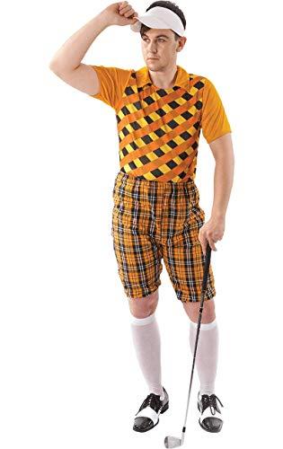 Herren Tartan Pub Golf Golfspieler Hirsch Karneval Kostüm hut Visor ()