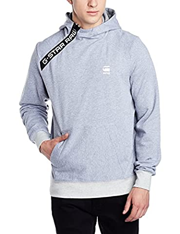 G-STAR RAW Men's Core Zip Hooded Sw l Sweatshirt, Weiß (Grey Htr 906), XL