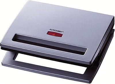 Cloer 6219, 900 W, 230 V, 205 x 230 x 85 mm, Cromo - Sandwichera de Cloer