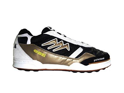 AGLA , Chaussures pour homme spécial foot en salle Black/Gold