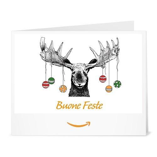 Buono Regalo Amazon.it - Stampa - Renna e Palle di Natale