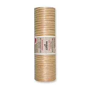 Stoff Holzoptik Buche Selbstklebend 125x20cm Material 100% Baumwolle und Holz Nähen basteln Dekostoff Holzmuster auf Rolle