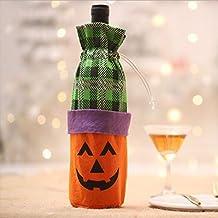 Nueva decoración de Halloween botella de vino set creativo bruja calabaza vino tinto botella de champagne