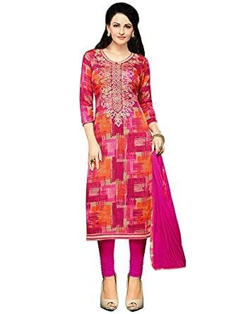 Buy Mrinalika Fashion Women's Cotton Silk Dress Material (dress ...