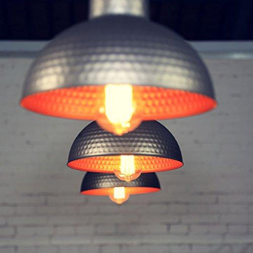 BAYCHEER Modern Hängelampe LED Lampe Aluminium Lampenschirm ø 26cm Retro Fabriklampe - 2