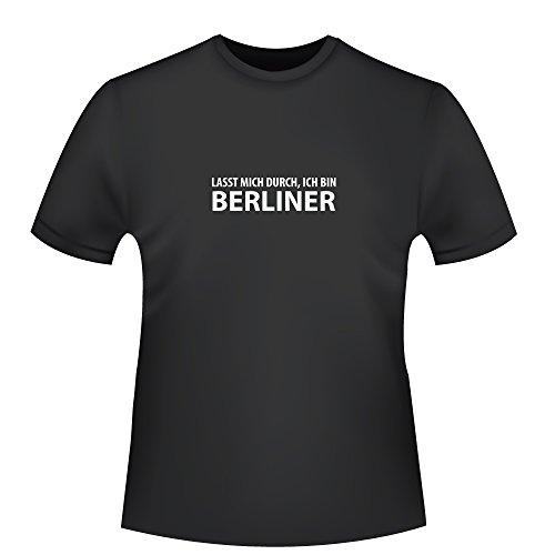 Hauptstadt Kostüm - Lasst mich durch, ich bin Berliner, Herren T-Shirt - Fairtrade, Größe M, schwarz