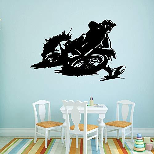 Reizend Motorrad Leichtathletik Wandtattoos Pvc Wandbild Kunst Diy Poster Für Baby Kinderzimmer Dekor Dekoration Zubehör Murals-69x45cm