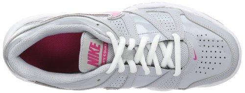 Nike Bambina City Court 7 (GS) scarpe da ginnastica Grigio / Rosa / Bianco (Wolf Grey / Vivid Pink-White)