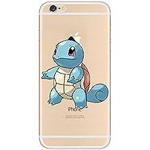 iPhone 5c Pokemon Caja de Silicona / Squirtle Cubierta de Gel para Apple iPhone 5C / Protector de Pantalla y Paño / iCHOOSE
