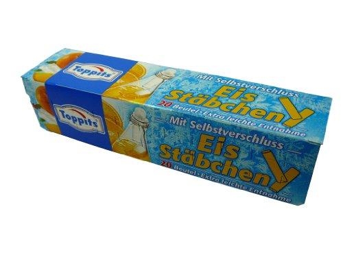 """Eiswürfelbeutel """" Eis - Stäbchen """" mit Selbstverschluss, 20 Beutel, Party, kühle Getränke in Flaschen, Eiskugeln, Eiskugelbeutel"""