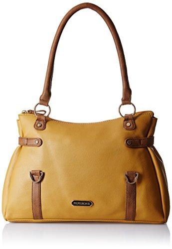 Peperone Damen Schulter Tasche PU-Entwerfer-Handtasche - Farbe erhältlich Braun