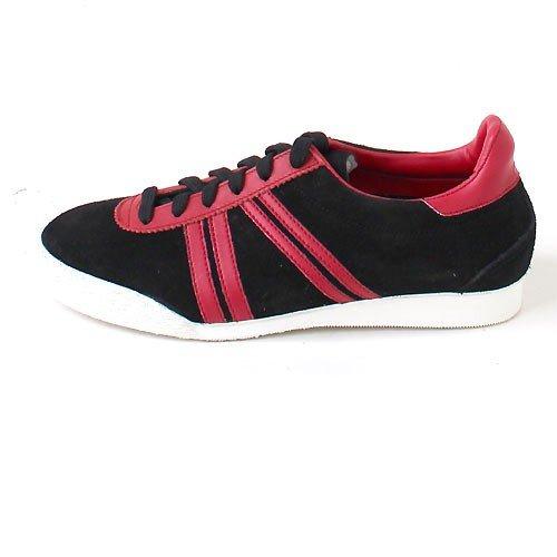 Germina Classics , Baskets pour homme Noir Black/Red Black/Red