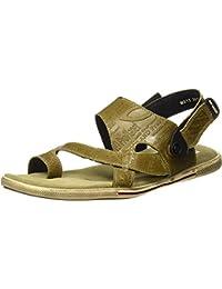 Woodland Men's Khaki Leather Sandal 10 UK/India (44 EU)-(OGD 3011118)