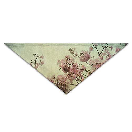 Hectwya Blume-Pflaumen-Blüten-Hundebandana-Lätzchen-Welpen-Katzen-Kopf-Schal-Zubehör