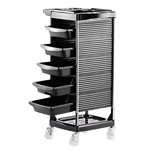 Allzweckwagen Salon Stylist Cart/Trolley, Friseur Friseurschrank, mit 5 Schubladen, 4 Rollen, Beauty Storage Organizer - 5 Schublade Storage Cart