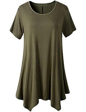 FAMILIZO Camisetas Mujer Verano Blusa Mujer Elegante Camisetas Mujer Largas Manga Corta Algodón Camisetas Mujer...