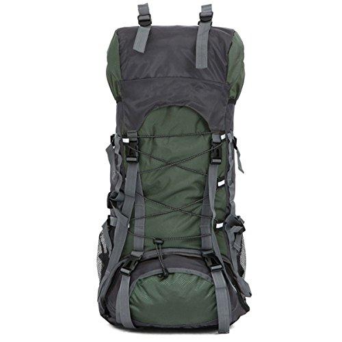 Unisex All'aperto arrampicata Alta capacità Escursionismo Campeggio Viaggio Impermeabile Zaino (Blu scuro) Verde scuro