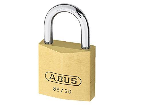Abus Vorhangschloss Vorhängeschloss aus Messing Serie 85 gleichschließend, 30 mm