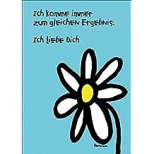 Romantische Abzähl Valentinskarte mit dem Ergebnis: Ich liebe Dich • auch zum direkt Versenden mit ihrem persönlichen Text als Einleger.