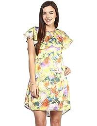 RARE Yellow Floral Print A-Line Dress (EP1095-XL)