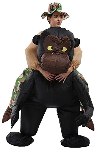 Dolass Disfraz Hinchable de Gorila Adulto Diverdido para Halloween Fiesta