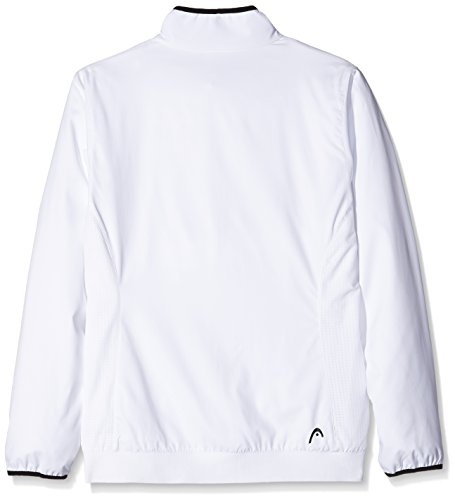 HEAD Oberkörper Bekleidung Club Jacket, Weiß, M, 814605-WH